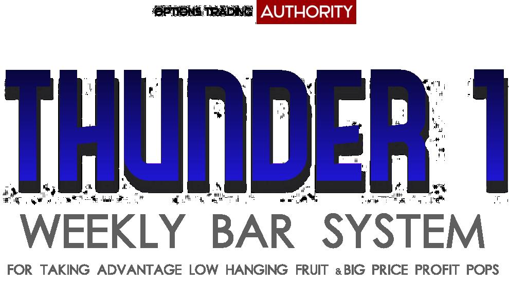 THUNDER1 Weekly Bar System