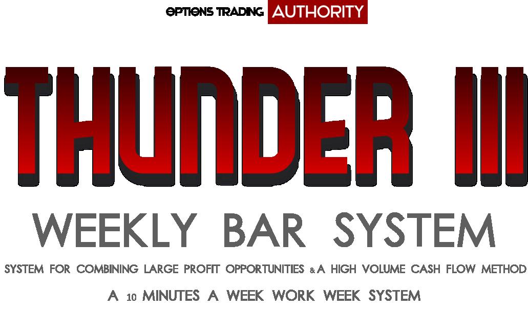 THUNDER3 Weekly Bar System